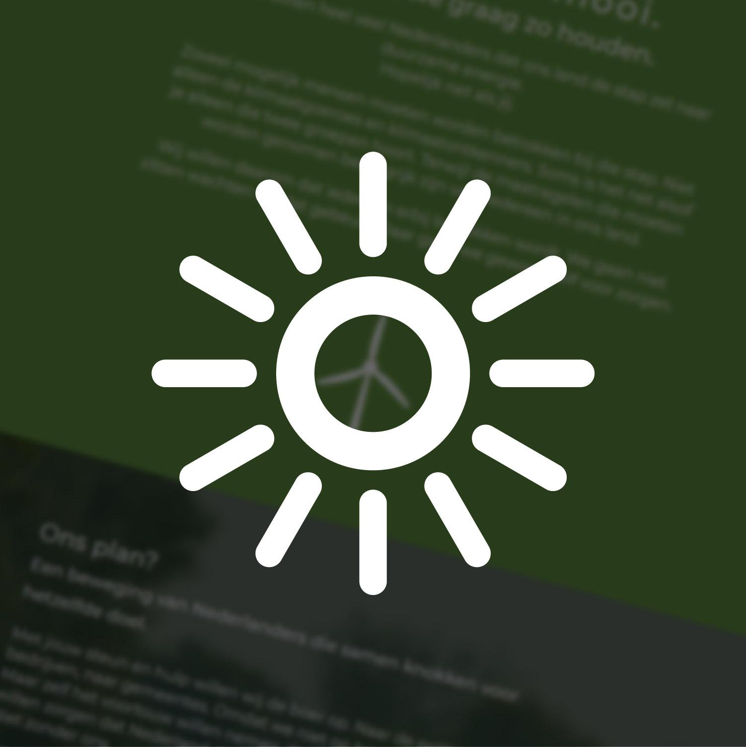 Kies nieuwe energie | Website voor Duurzaamheidscampagne