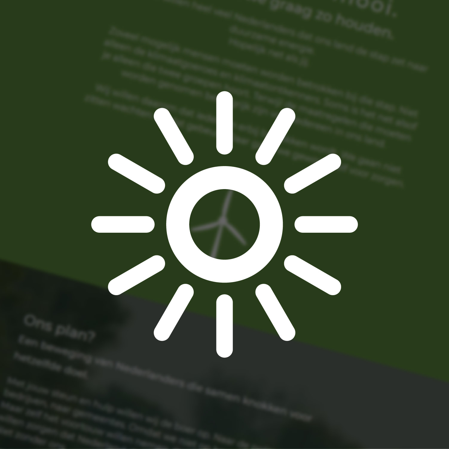 Kies nieuwe energie   Website voor Duurzaamheidscampagne